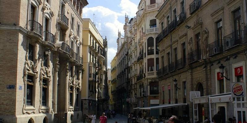 calle Trapería en Murcia