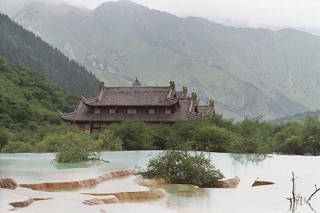 Terrazas de calcita en Huanglong