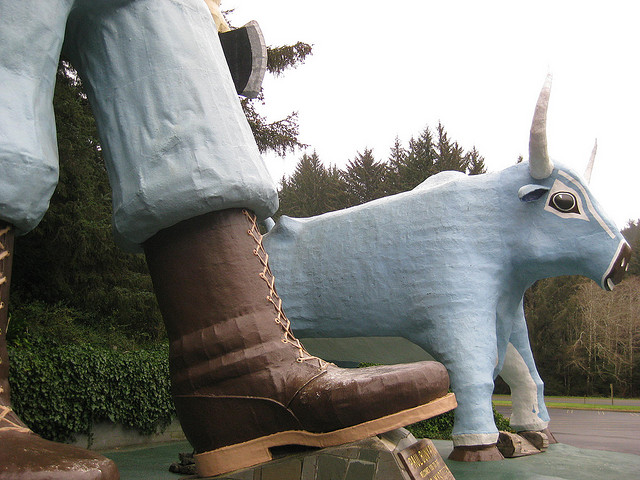 Estatua de Paul Bunyan 2