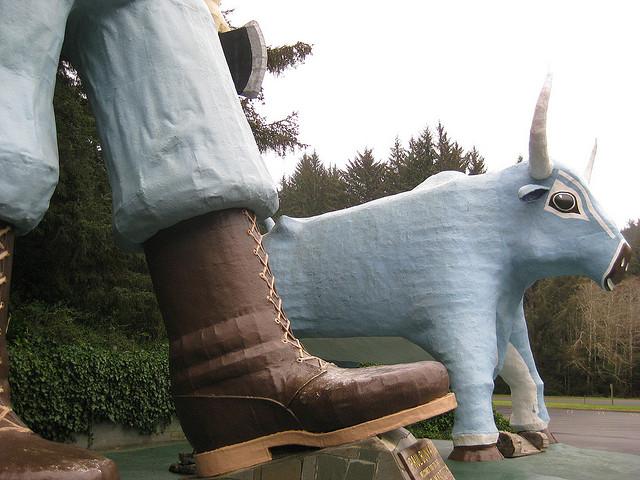 Estatua de Paul Bunyan 2