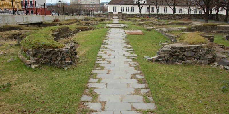 Ruinas de la ciudad medieval de Oslo