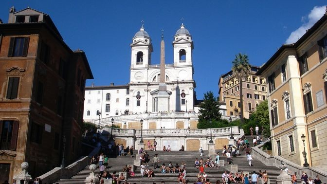 Iglesia de la Santísima Trinidad en el Monte Pincio | Chiesa della Trinitá dei Monti | Roma