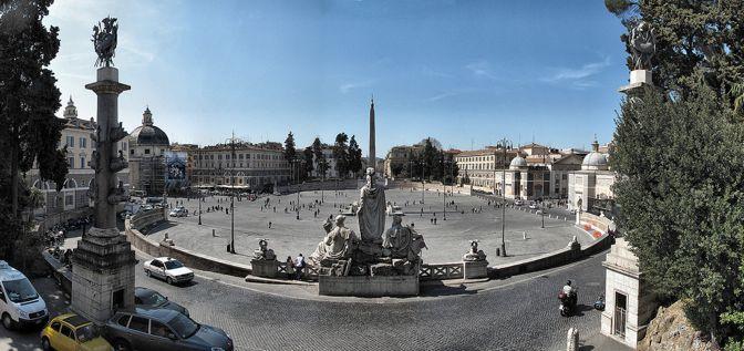 Piazza del Popolo - Plaza del Pueblo - Roma