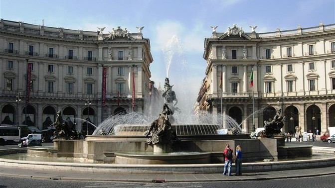 Plaza de la República Roma