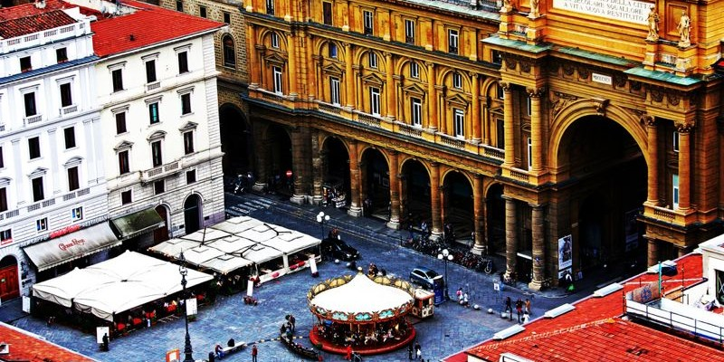 Plaza de la República en Florencia