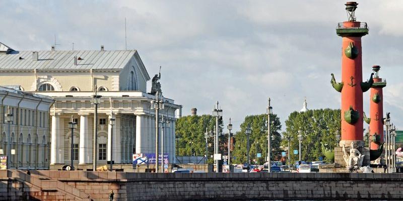 Strelka, belleza arquitectónica, San Petersburgo