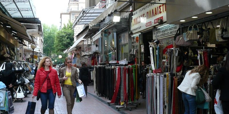 De compras por Atenas