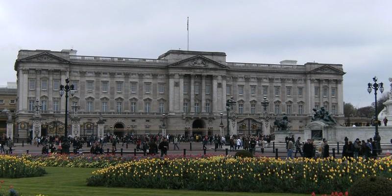 El Palacio de Buckingham y el cambio de guardia, Londres