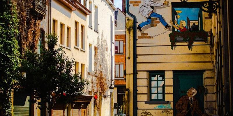 Ruta del Cómic por los murales de Bruselas