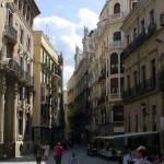 La calle Trapería en Murcia