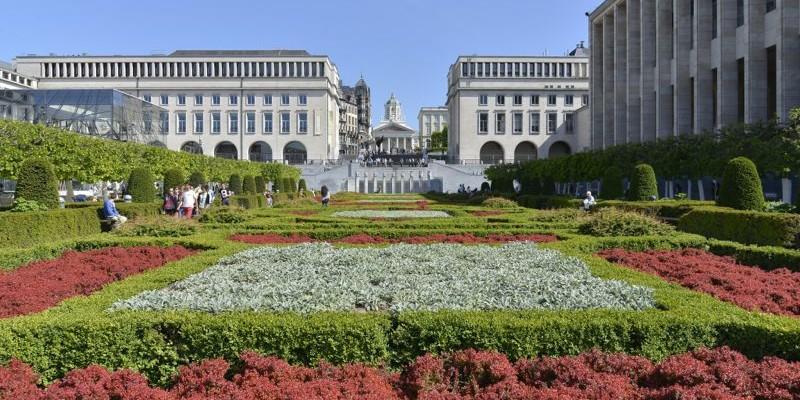 El Jardín de Mont des Arts | Bruselas | Visita
